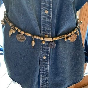 Chico's gold coin belt